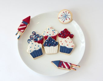 4th of July Cookies / American Cookies / July 4th Cookies
