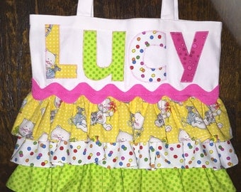 Ruffled Tote Bag