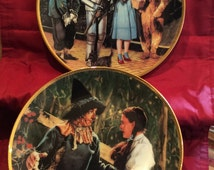 """Wizard of Oz Collector Plates - """"with Dorethy and Toto,  We're off to see the Wizard"""" and """"Dorothy Meets the Scarecrow"""""""