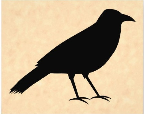 Primitive Crow Stencil Made From 4 Ply Mat Board