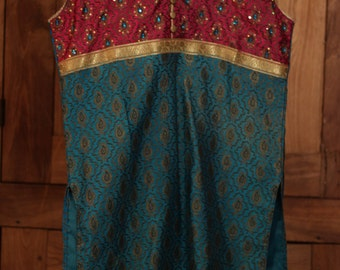 Multi-Colored Tunic with Beading (Made in India)