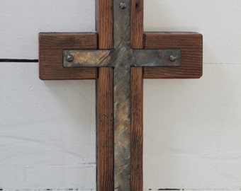 Wood and Steel Cross