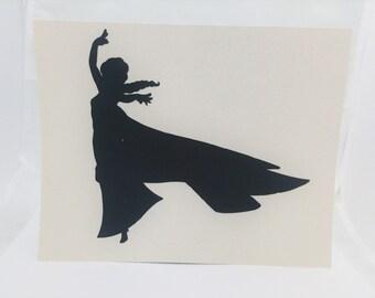 """Princess Elsa Frozen Inspired Cut Paper Silhouette Portrait 8"""" x 10"""" Cut Out Art Portraits"""