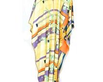 Vintage 70s Dress - Cape Dress - Size L Dress - Bierner Original Dress - Womens Vintage - Casual Dress