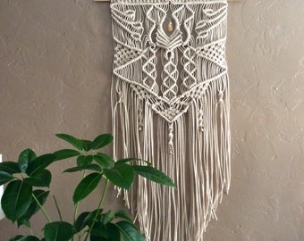 large macrame wall hanging wall tapestry wall hanging wall decor wall art bohemian boho art textile art home decor unique wall art