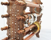 Elegant Handcrafted Wooden Bracelet / Bangle stand/Jewelry Stand