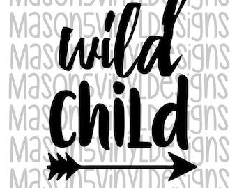 Wild Child. DIY Iron On. Heat Transfer Vinyl. HTV. Shirt Iron On. Decal.