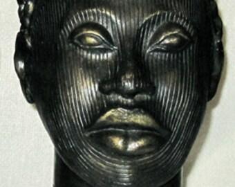 Crowned head of ONI-Yoruba art