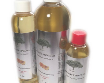 APRICOT KERNEL OIL natural carrier cold press 100% pure 8 oz skin lover