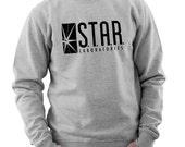 STAR Laboratories STAR Labs Sweatshirt Jumper Small to 3XL