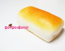 Loaf Squishy, Slow Rising, Cute Kawaii Jumbo Squishies, Sandwich,Bakery, Bun,Butter Bread, Food Model,Phone Charm,Supplies,Toy,Wristpad,0037