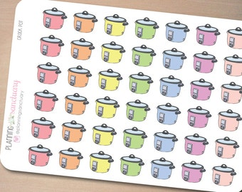 Crock Pot | Cooking | Meal Preparation Planner Stickers Perfect for Erin Condren, Kikki K, Filofax and all other Planners