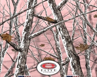 "Snowstorm Pink 15""x52"" or 24""x52"" Truck/Pattern Print Tree Real Camouflage Sticker Roll or Sheet"