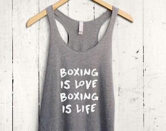 Womens Boxing Tank Top - boxercise tank, funny gym tank, boxing gym shirt, womens boxing top, womens boxercise top, womens gym top