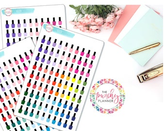 Nail Polish Planner Stickers // Manicure Planner Stickers // Pedicure Planner Stickers // Mani Pedi Planner Stickers // Icon Planner Sticker