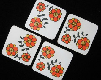 Coasters, Set of 4, Vintage