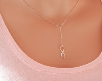 infinity necklace karma necklace bridesmaid gift necklace bridesmaid silver circle necklace circle of life necklace bridesmaid gift jewelry