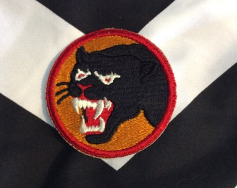 RARE *Deadstock* Black Panther Vintage Patch Sew-On USA WWII 66th Division Commemorative Patch *Old Stock