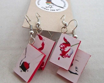 """Twilight Saga special white edition Books Earrings from """"The Earring Library"""""""