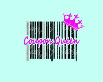 Coupon Queen svg file