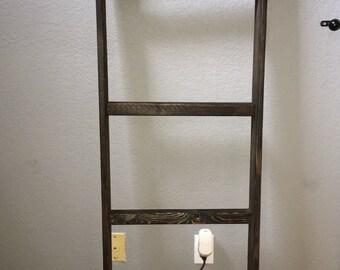 Shabby chic handmade blanket/towel ladder