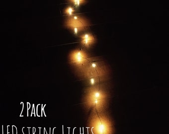 2 bundled String Lights | Mason Jar Lights | Firefly Lights | Wedding Lights | Rustic Lighting | LED Lights | Decorative Lights