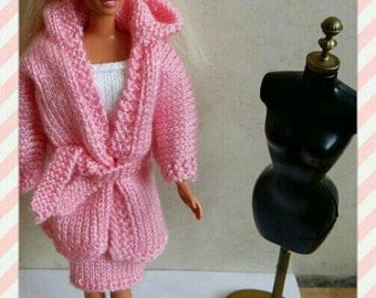 Barbie outfit cardigan top and skirt design (30)
