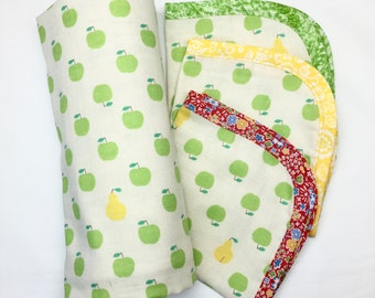 Wet or dry baby wrap and facecloth