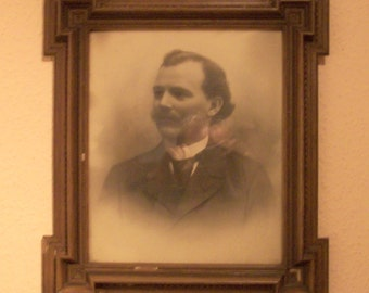 Portrait of a young man-unsigniert - approx. 1850 - 1900 in wooden frame