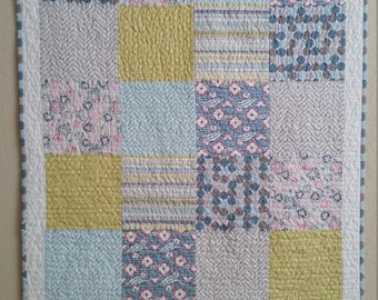Patchwork Reversible Baby Quilt