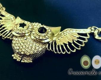 Collar búho / Owl necklance.