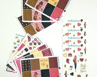 Fashion Sticker Kit, EC Weekly Kit, Glam Sticker Kit, Fall Glam Weekly Planner Kit, City Chic Sticker Kit, Planner Stickers
