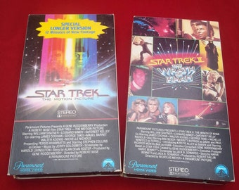 Star Trek The Motion Picture and Star Trek The Wrath of Khan VHS movies/Vintage/Fathers Day