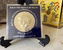 1981 Royal Wedding The Prince Of Wales to Lady Diana Spencer Royal Coin Princess Diana Coin Prince Charles Coin British Royal Wedding