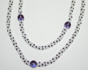 Kumihimo necklace double row
