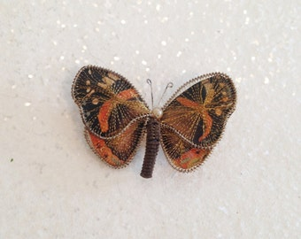 Delicate Vintage Monarch Butterfly Pin Brooch