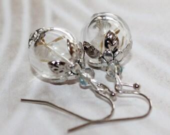 Dandelion flowers earrings