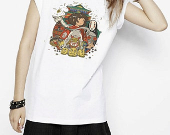 Spirited Away Character Anime Inspired T-shirt. Male and Female Apparel