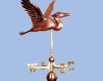Copper Heron Weathervane BH-WS-112