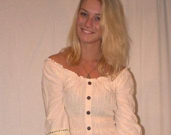 SALE - WOMENS | Off-white bohemian long dress | Size M - SALE