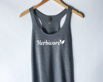 Herbivore Tank Top - Vegan Vegetarian Shirt - Animal Rights - Hipster Tumblr Vegan Shirt - Herbivore Shirt