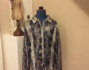 Vintage 70's C&A Clockhouse Button Down Blouse/Shirt