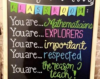 Classroom Chalk Board