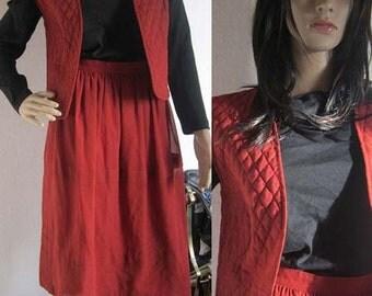 Vintage 70s skirt & vest skirt 38