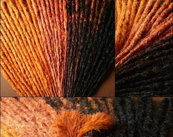 Native set 35 DE's crocheted natural looking synthetic dreads