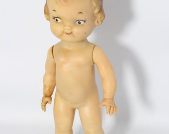 Campbell Kid made by Ideal Toy Corp Plastic Doll