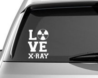 LOVE XRAY decal