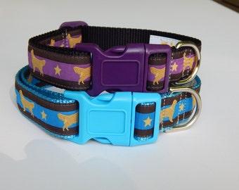 Golden Retriever Dog Collar, Purple Golden Retriever Dog Collar, Blue Golden Retriever Dog Collar, Adjustable Dog Collar