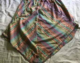 Unique striped hand stitched skirt
