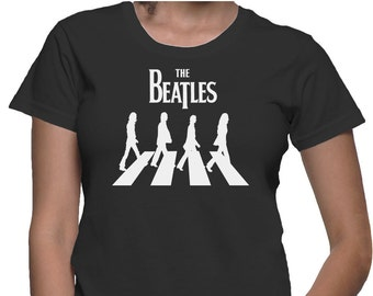 The Beatles John Lennon Logo women shirt,pop shirt,rock t-shirt,The beatles women t-shirt,The beatles,The beatles clothing Ladies SizeXS-2XL
